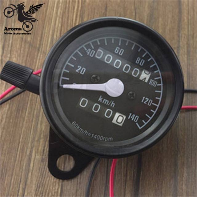 High Quality Universal pro Motorcycle Dual Odometer Speedometer for yamaha suzuki kawasaki honda KTM Gauge LED Backlight black