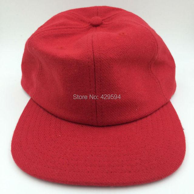 b9f66563d9f4cf six panel blank red wool polo hat warm winter hat hip hop baseball cap  custom headwear snapback cap