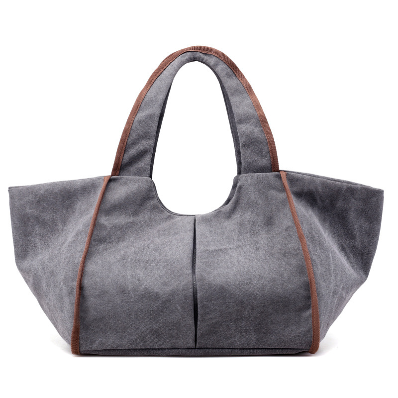 1260 Wholesale Canvas Handbag Women's Single Shoulder Bag Portable Large Totes