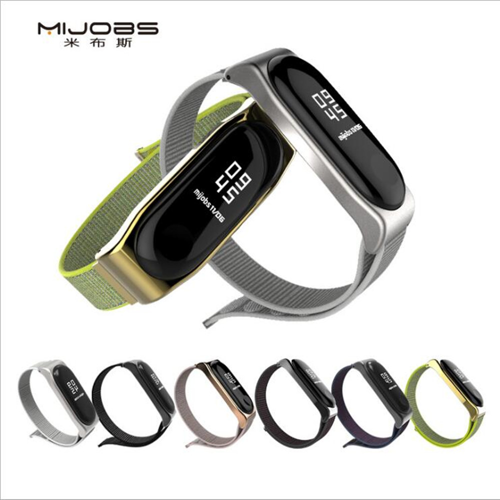 Mi Band 3 4 Strap Bracelet Silicone Nylon Wristband Smart Band Accessories Wrist And Mi Band3 For Xiaomi Mi Band 3 4 Bracelet