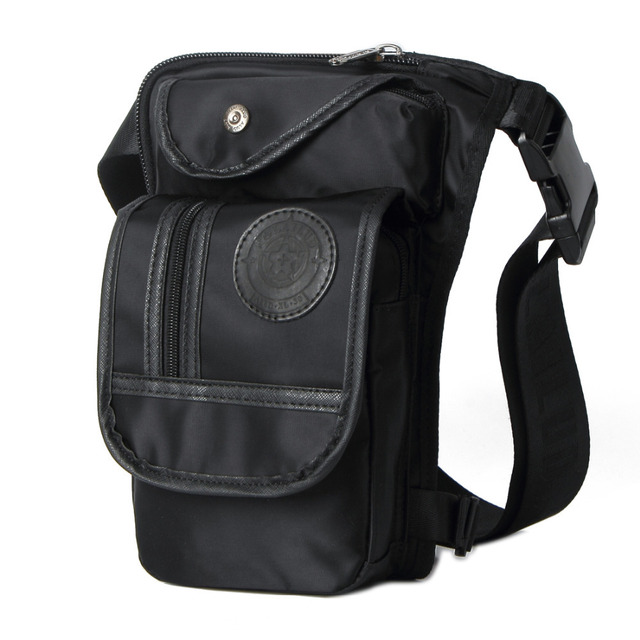 New Men Waterproof Nylon Travel  Riding Motorcycle Cross Body Messenger Shoulder Belt Fanny Pack Waist Thigh Leg Drop Bag