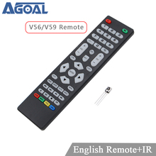 V59 V56 Skr.03 Universal Remote Control with IR receiver for LCD Driver Control board only use for V59 V56 3463A DVB T2