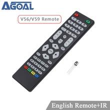 V59 v56 skr.03 controle remoto universal com receptor ir para lcd placa de controle motorista só usar para v59 v56 3463a DVB T2