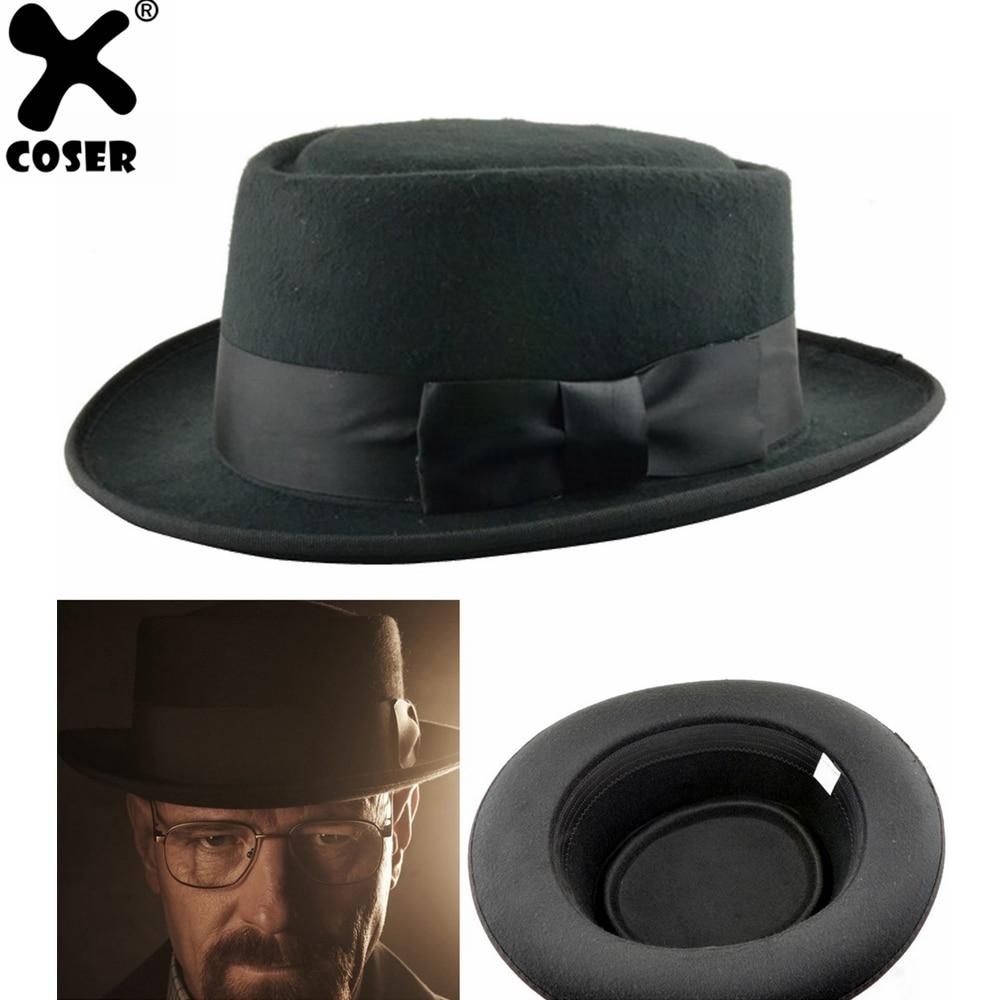 Xcoser Breaking Bad Walter White Cosplay Heisenberg Hat Pork Pie Cap Cosplay Costume Accessory Christmas Gift For Men Pleasant In After-Taste