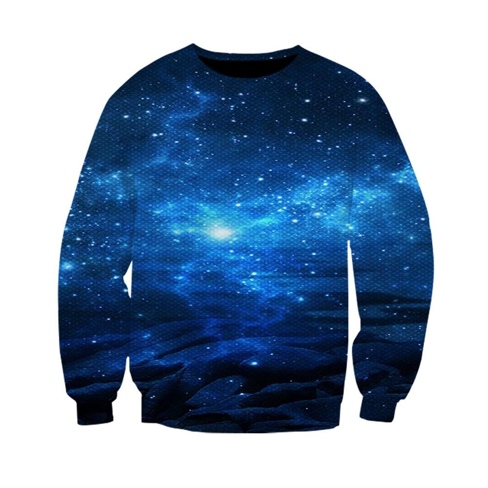 2019 hot fashion 3D galaxy nebula sweatshirt men women   nebula printing streetwear personality  loose spring purple tops