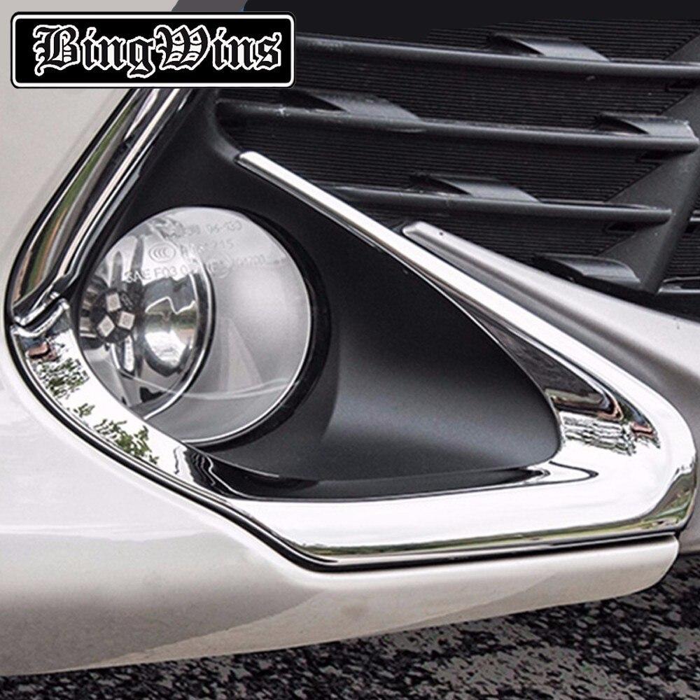 Bing WINS для Toyota Camry 2015 2016 ABS Chrome передний и задний Туман света лампы охватывает отделкой Наклейки тюнинг автомобилей