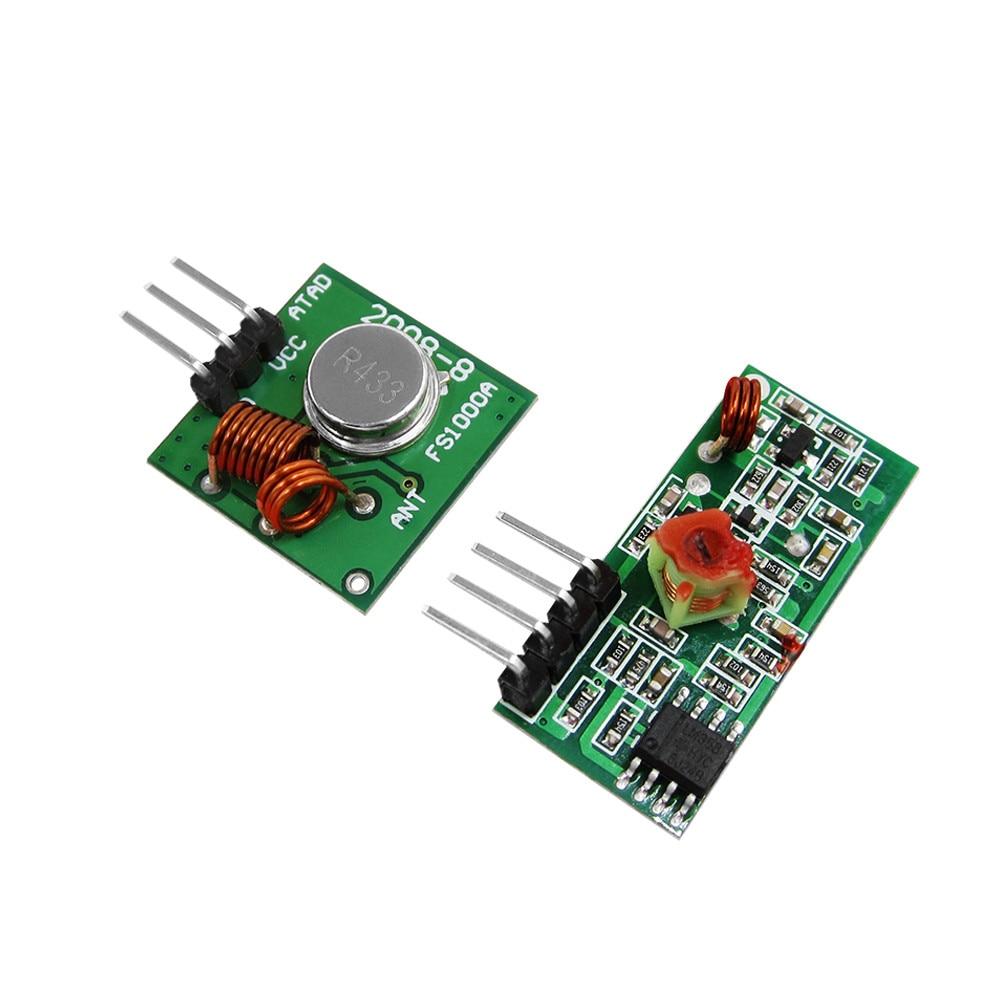 1pair RF wireless receiver module & transmitter module board for super regeneration 315/433MHZ DC5V (ASK /OOK) mx 05v 433mhz rf wireless receiver module mx fs 03v transmitter module