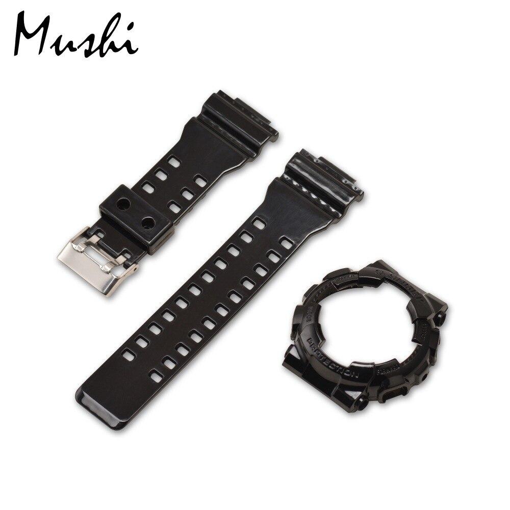 Mushi Watchbands Watch Strap Watch Case Metal Buckle For Casio GA-110\GA-100\GA-120\GD-100\GD-110 G-shock Watch Accessories