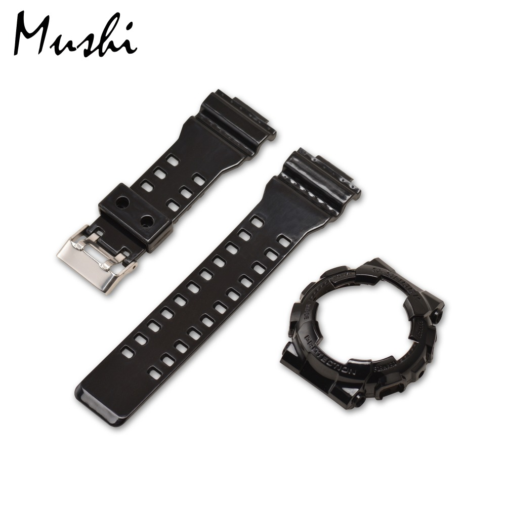 Mushi Watchbands Watch Strap Watch Case Metal Buckle For Casio GA-110\GA-100\GA-120\GD-100\GD-110 g-shock Watch Accessories the latest rubber 16mm strap strap apply to for casio ga 100 ga 100 ga 120 ga 120 gd 100 gd 120 ga 100c watch accessories