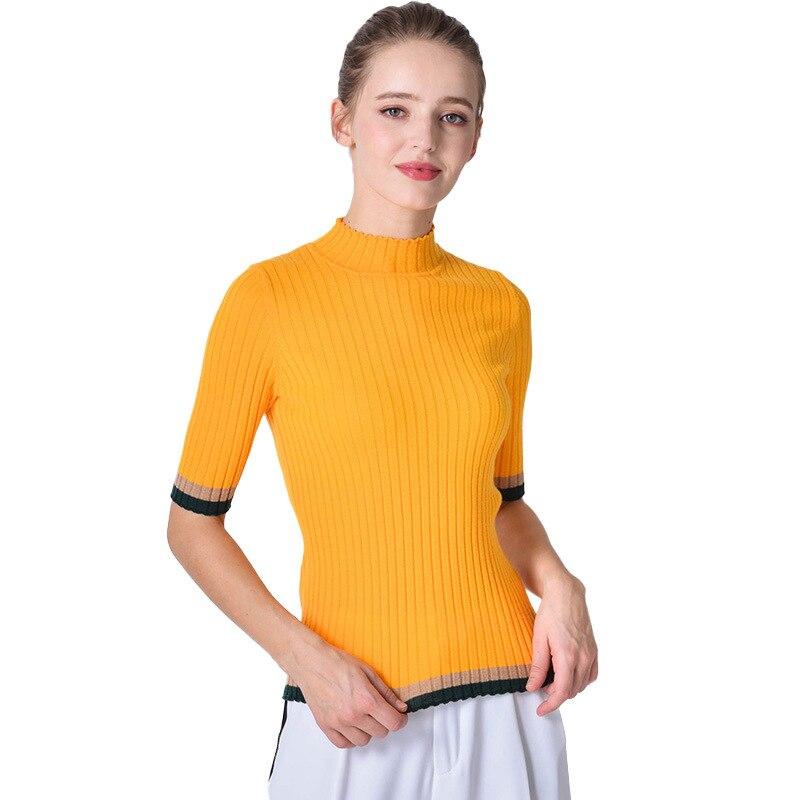Beige maglioni delle donne di trasporto a collo alto fem me ponticello stile Coreano pullover 2019 di autunno vestiti di inverno lavorato a maglia top più il formato slim fit - 5
