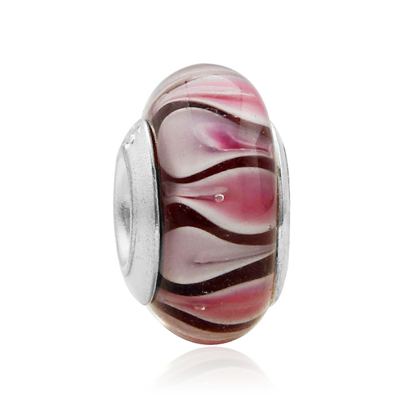 Discount pandora pink murano glass cherry blossom charm high quality silver plated bead charm pink cherry blossom murano glass beads fit pandora bracelet bangle sciox Images
