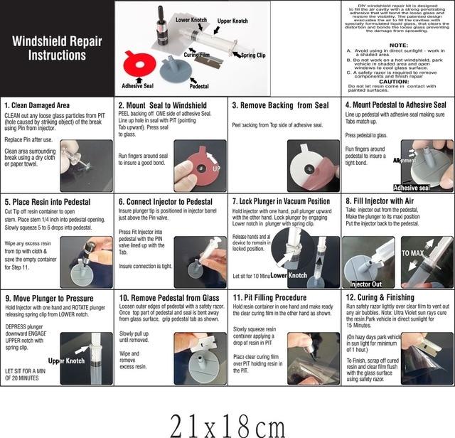 Praktische DIY Auto Windschutzscheibe Reparatur Kit tools Auto Glas Windschutz Reparatur Set Für Auto Fenster Chip Riss Sterne Bullseye