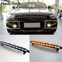 Światła do jazdy dziennej led drl światła do jazdy dziennej/działa światło, doprowadziły światło przeciwmgielne dla Audi Q7 2006-2009 z żółtymi kierunkowskazy