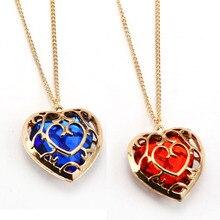 Легенда о Зельде ожерелье выдалбливают сердце Кристалл Мода кулон Мужчины Женщины ожерелья ювелирные изделия аксессуары