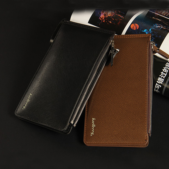 Large Capacity 16 Slots Card Holders Men Leather Wallet Famous Brand Bifold Money Purse Fashion Male Cash Coin Pocket Free Ship japan anime katekyo hitman reborn wallet cosplay men women bifold coin purse