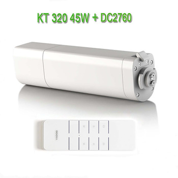 Dooya Automatic Electic Curtain Motor KT320E/45W,Electronic Motor+Dooya DC2760 2 Channel Emitter Remote Controller