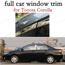 full Window Trim  Decoration Strips Stainless Steel Car Exterior Accessories for Toyota Corolla