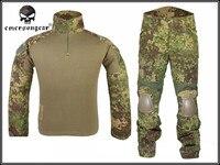 Emerson Tactical Camouflage Uniform Kleidung Anzug Männer Armee Jagd Combat Jersey Shirt + Hosen Knieschützer Wandern Kleidungsstück
