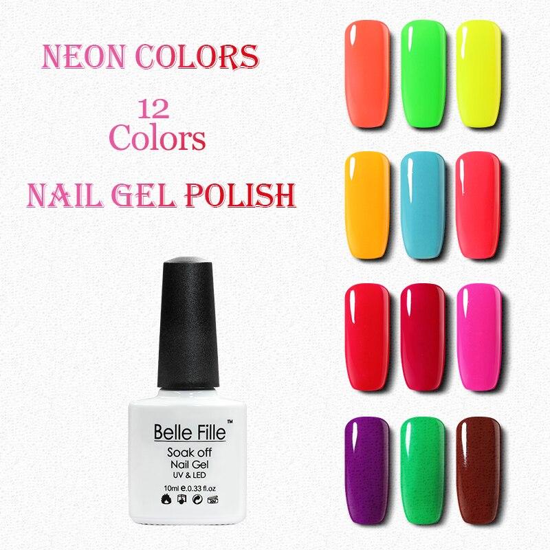 Belle Fille Hot Musim Panas Neon Warna UV Gel Kuku Cat Warni