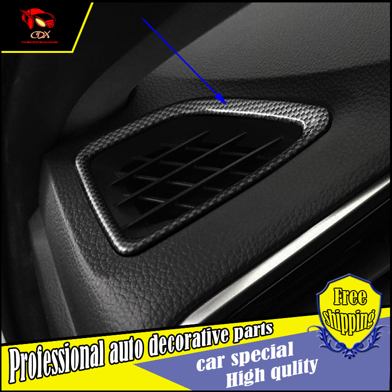 Car styling Instrument table dashboard Both sides air Outlet Vent decorate For Honda Spirior 2015 2016 air outlet cover trim