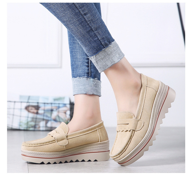 HX 8775-Spring Autumn Genuine Leather Women Shoes-17