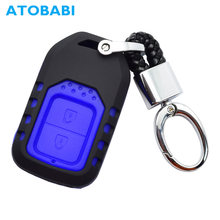 ATOBABI Silicone+ABS 2 Button Remote Car Key Case for Honda HRV CRV XR-V CRIDER Accord SPIRIOR Pilot CIVIC Smart Key Shell Cover(China)