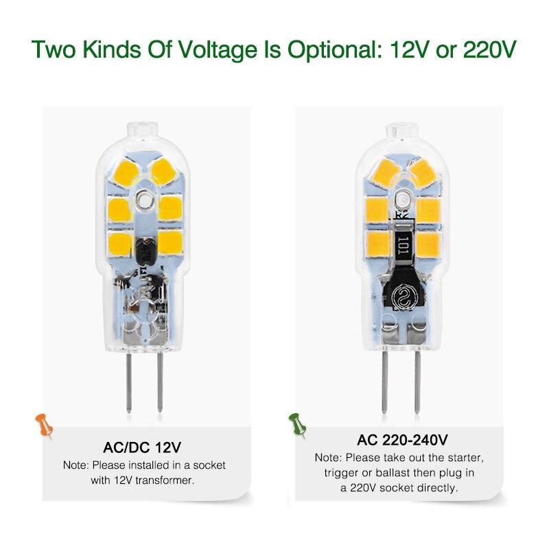 2pcs/lot G4 G9 LED Lamp Mini LED Bulb AC 220V DC 12V SMD2835 Spotlight Chandelier High Quality Lighting Replace Halogen Lamps 2