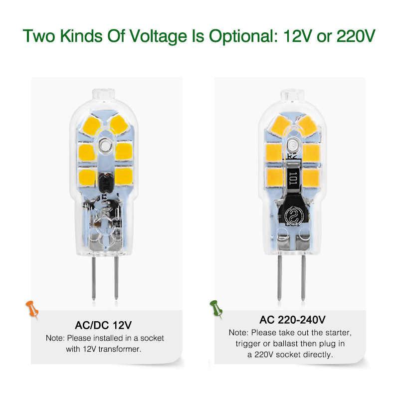 G4 G9 lampa LED 3 W 5 W Mini żarówka LED AC 220 V DC 12 V SMD2835 reflektor żyrandol wysokiej jakości oświetlenie wymienić lampy halogenowe
