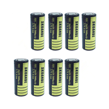 8PCS/LOT High Quality 26650 BATTERY 26650 5000mAh Rechargeable Battery 3.7v Li-ion Batteries