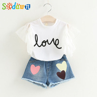 Sodawn 2017 Summer Style Girls Dress Girls Clothes Fashion Children Vest Cowboy Dress Children Clothing Party
