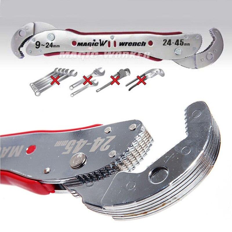 9-45mm Einstellbare Mehrzweck Magie Schlüssel-tools Universalschlüssel Rohr Schraubenschlüssel Für Home Schraubenschlüssel 1 stück