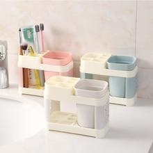 Bathroom Toothbrush Cup Toothbrush Holder Suits Toothpaste Bath Set Bathroom Storage Rack Holder Toothpaste Storage Box