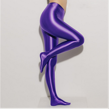 DROZENO Womens solid color tights Satin material fashion sexy High waist design in pantyhose