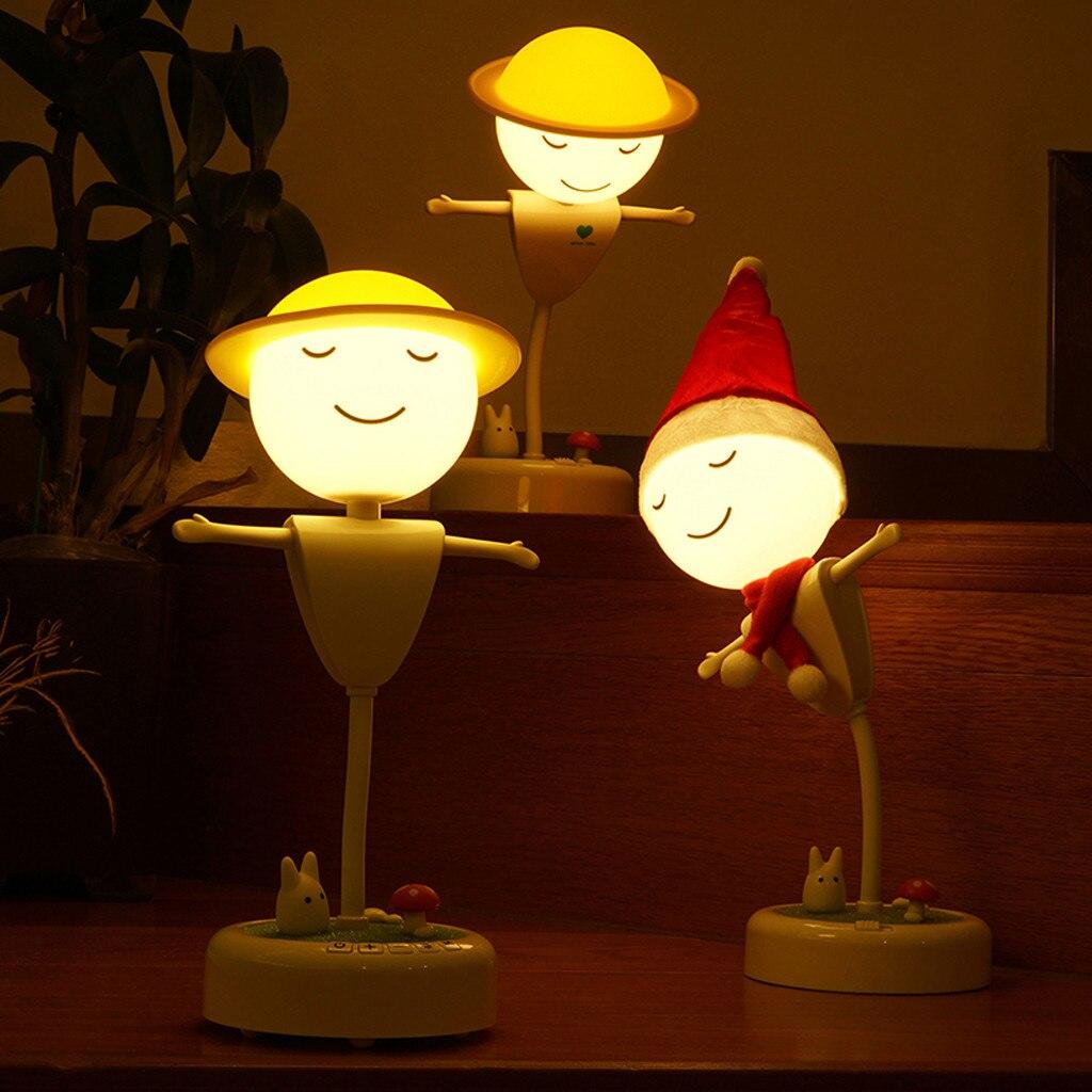 LED Lunar lamp Cute Cartoon Night Lamp Girls Bedroom Lighting for Babyroom Kids Stair Feeding Nurseries Friend Kids Gift9.591