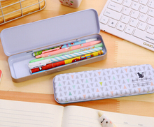 [YYYYAAAA] Small iron stationery cute little animal Korean stationery cartoon tin pencil case pencil box student(China)