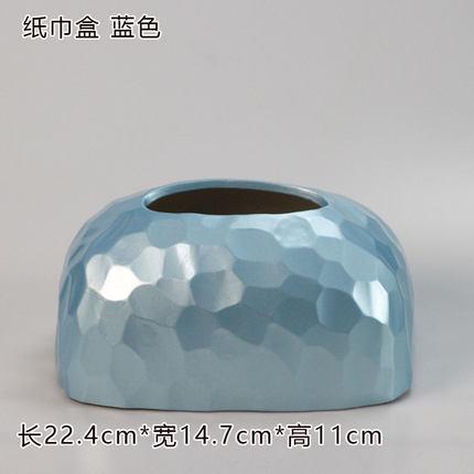 Современная керамическая золотая коробка для салфеток для дома простая гостиная ресторан отель бумажная коробка для хранения полотенец настольные украшения - Цвет: B
