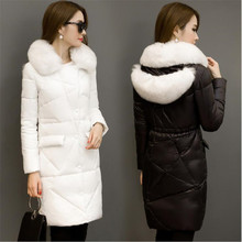 Vogue New 2016 Winter Jacket Coat Female Temperament  Get Long Down Jacket Down Han Edition Cultivate One's Morality O9vercoat