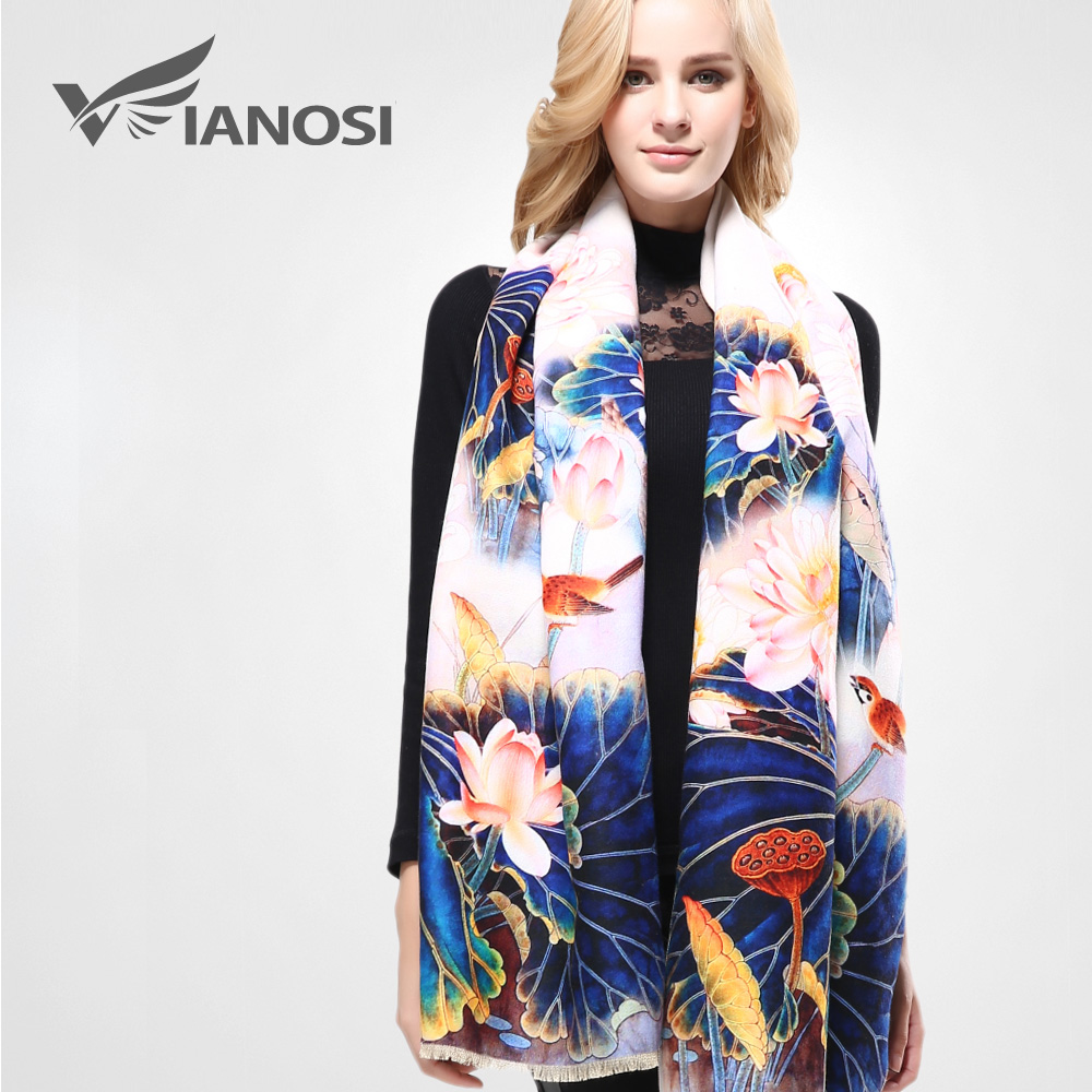 [VIANOSI] Winter Scarf Thicken Warm Soft Shawls and Scarves s
