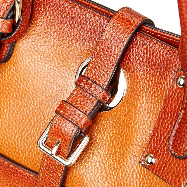 Go Meetting Luxury Brand Genuine Leather Women's Handbags High Quality Cowhide Women Shoulder Bag Vintage Totes Messenger Bag