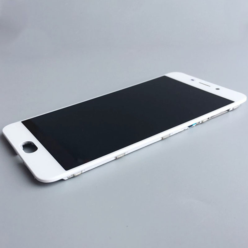 White LCD Screen Display Touch Digitizer Assembly+Frame For OPPO R9 Replacement