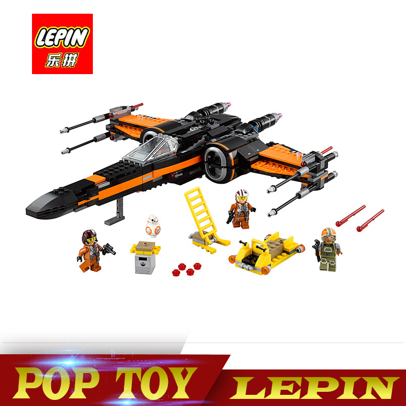 Lepin 05004 845pcs Star Set Wars First Order Poe s X wing Fighter Assembled font b