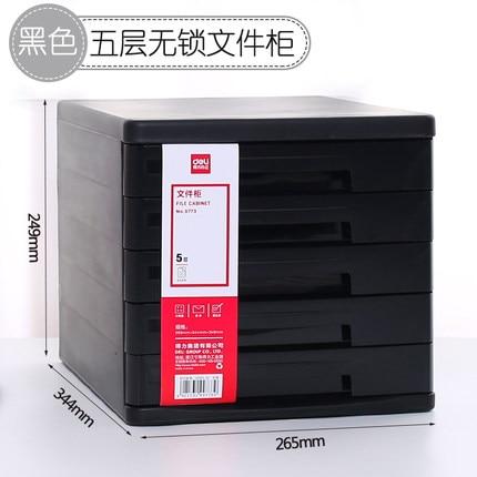 5-layer Desktop File Cabinet  Drawer Type Plastic File Holder Office Data Storage File Box