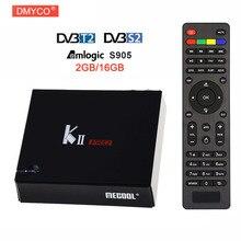 Mecool Кии Pro Android 5.1 TV Box 2 ГБ + 16 ГБ DVB-S2 DVB-T2 предварительно установленных Amlogic S905 Quad -Core Bluetooth Smart Media Player