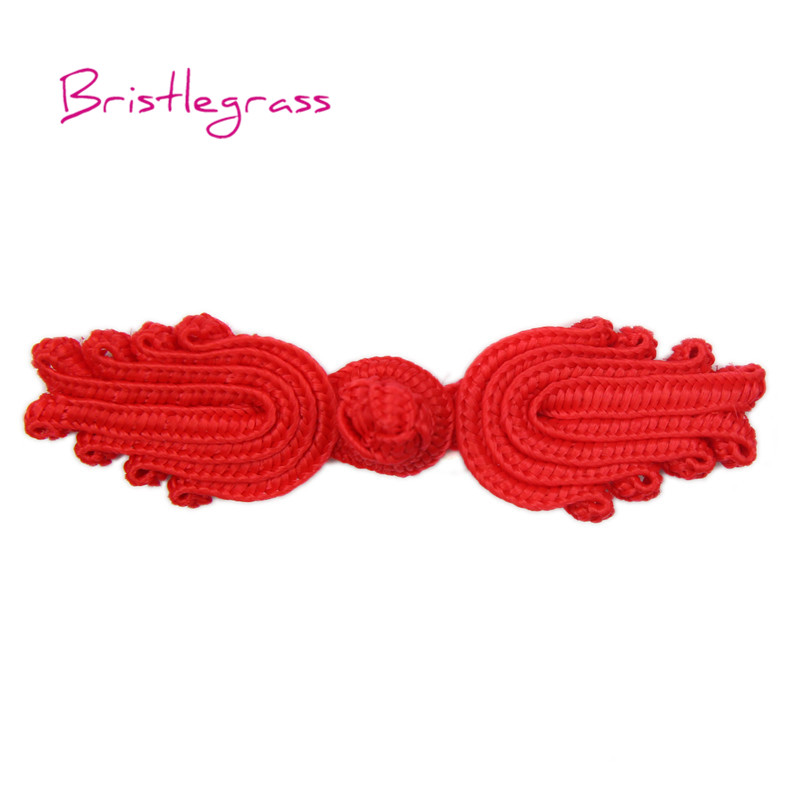 Buttons Home & Garden Cheap Price Bristlegrass 5 Pair Handmade Red Leaf Chinese Knot Buttons Frog Closure Ribbon Fasteners Cheongsam Costume Suit Diy Sewing Craft