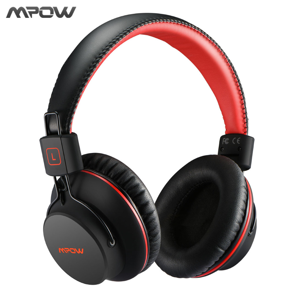 Mpow HiFi Stero Wireless Bluetooth Headphones With Mic Soft Ear Pads Noise Cancelling Headset Earphone For iPhone Android TV PC wireless bluetooth headset mini business headphones noise cancelling earphone hands free with microphone for iphone 7 6s samsung