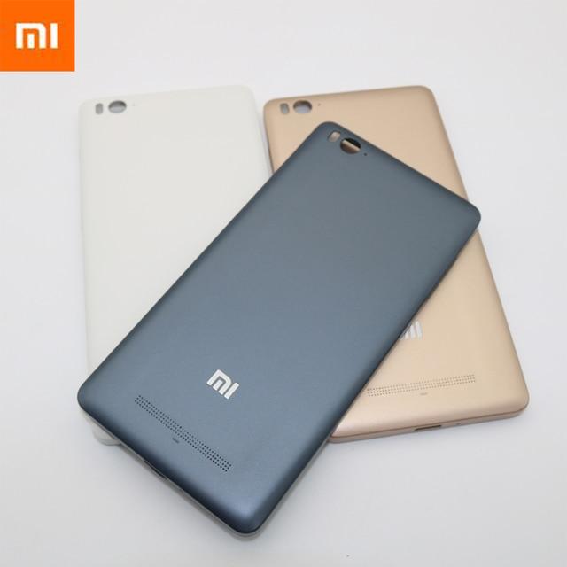 quality design 6eb77 c36bf Original Hard Plastic Battery Back Cover for Xiaomi MI4I MI4C MI 4I 4C Rear  Housing Door Case With Replacement Parts