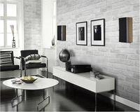 beibehang Thicker 3D Stereo Gray Brick Barber Shop Retro Chinese Restaurant Bubble Foam Brick papel de parede Wallpaper tapety