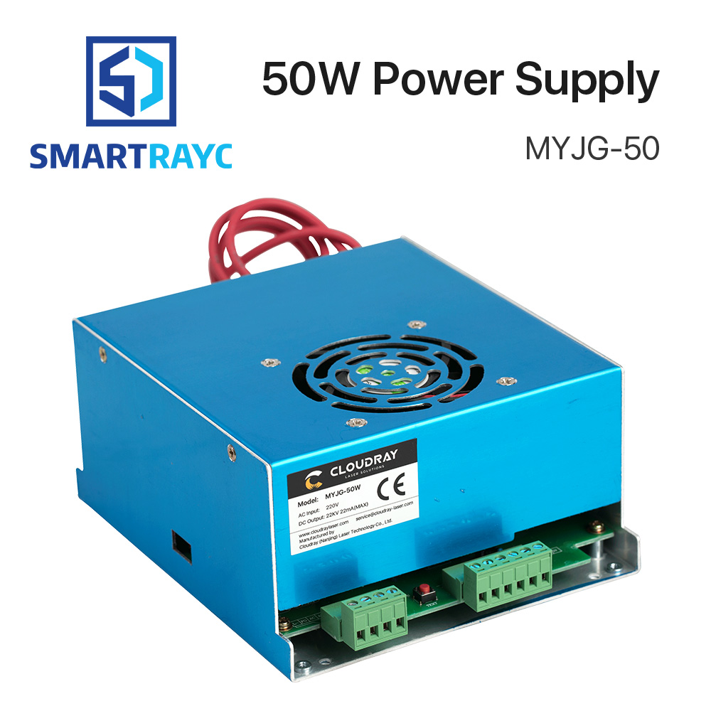 Smartrayc 50W CO2 Laser Power Supply for CO2 Laser Engraving Cutting Machine MYJG-50 smartrayc co2 laser tube holder support mount flexible plastic 50 80mm for 50 180w laser engraving cutting machine model a