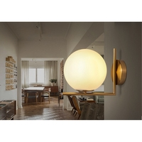 Modern Wall Lamp Light Indoor LED Glass Ball Wall Lamps for Bedroom Bedside Home Lighting Light Fixture Wall Sconce