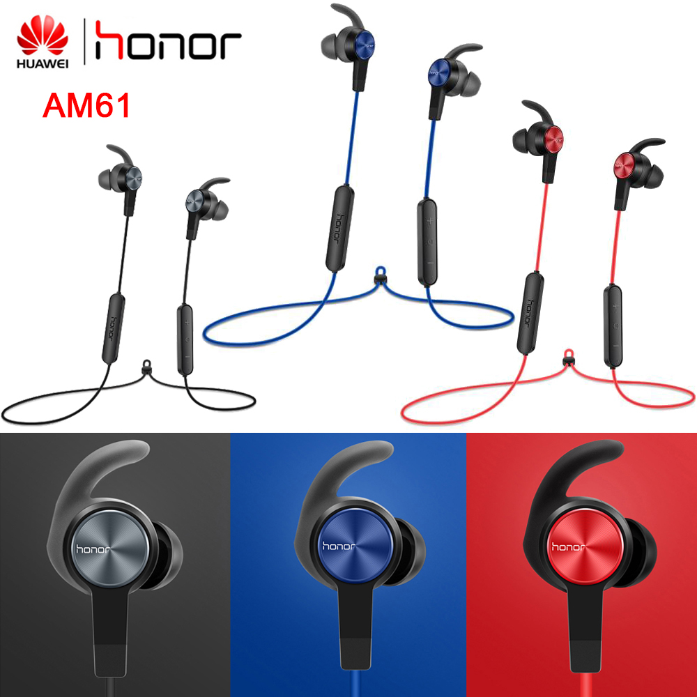 Оригинальные беспроводные наушники Honor AM61, степень защиты IP55, Bluetooth 4.1 HFP / HSP/A2DP/AVRCP, для Honor Huawei Xiaomi Vivo